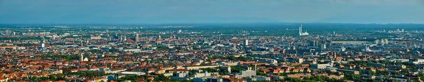 Flyg- panorama av Munich bavaria germany munich arkivfoto