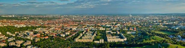 Flyg- panorama av Munich bavaria germany munich arkivfoton