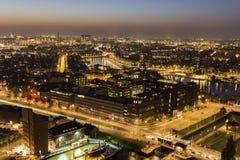 Flyg- panorama av Rotterdam Arkivfoto