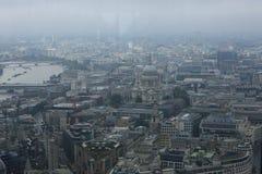Flyg- panorama av staden av London Royaltyfri Fotografi