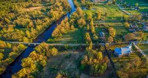 Flyg- panorama i Litauen fotografering för bildbyråer