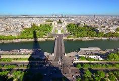 Flyg- panorama- Paris Fotografering för Bildbyråer