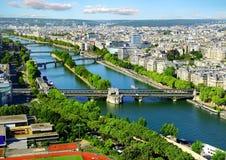 flyg- panorama- paris sikt Royaltyfria Bilder