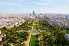 flyg- panorama- paris sikt Fotografering för Bildbyråer