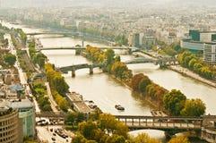 flyg- panorama- paris sikt Arkivbild