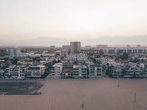 Flyg- panorama- sikt för fågelöga av den gamla staden Royaltyfri Foto