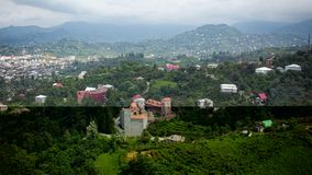 Flyg- panoramautsikt av centret av Batumi Royaltyfri Fotografi