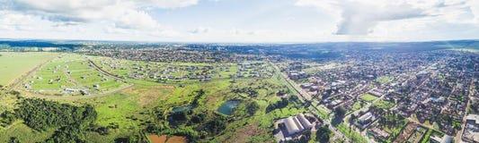Flyg- panoramautsikt från den Avenida konsulAssaf Trad avenyn royaltyfria bilder