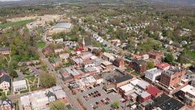 Flyg- perspektiv Lexington Virginia USA f?r historiska byggnader stock video