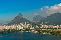Flyg- Rio de Janeiro Landscape Arkivfoto