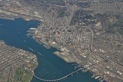Flyg- San Diego Arkivbild