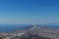 flyg- santorinisikt Grekland Arkivfoton