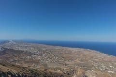 flyg- santorinisikt Grekland Royaltyfri Foto
