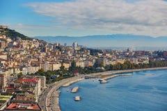Flyg- scenisk sikt av Naples, sydliga Italien Arkivbild
