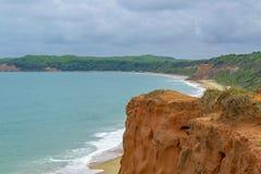 Flyg- SeascapeplatsPipa Brasilien royaltyfria foton