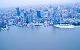 flyg- shanghai arkivbild