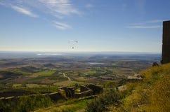 Flyg- sikt över Aragon, Spanien Royaltyfri Fotografi