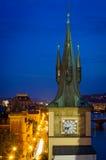 Flyg- sikt över gammal stad i Prague Fotografering för Bildbyråer