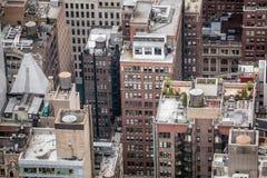 Flyg- sikt över Manhattan Royaltyfri Bild