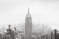Flyg- sikt över Manhattan Arkivbilder