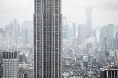 Flyg- sikt över Manhattan Royaltyfria Foton