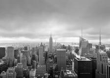 Flyg- sikt över Manhattan Arkivfoton