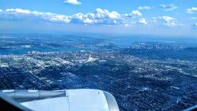 Flyg- sikt över Montreal royaltyfri fotografi