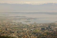 Flyg- sikt över Rio de Janeiro Royaltyfri Foto
