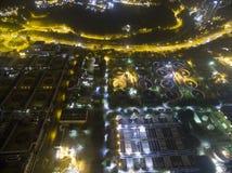 Flyg- sikt över Shatin i Hong Kong Arkivbilder
