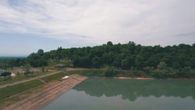 Flyg- sikt över sjön Georgia lager videofilmer