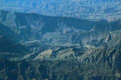 Flyg- sikt över Zagros berg, Iran Royaltyfri Foto