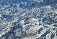Flyg- sikt över Zagros berg, Iran Arkivfoton
