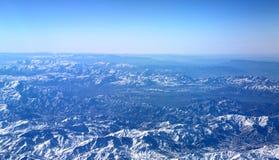Flyg- sikt över Zagros berg, Iran Arkivfoto
