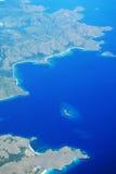 Flyg- sikt av öar Arkivbilder