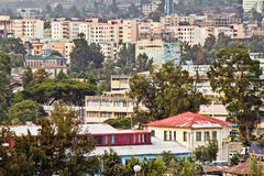 Flyg- sikt av Addis Ababa Royaltyfri Bild