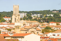 Flyg- sikt av Aix-en-provence, Frankrike Fotografering för Bildbyråer