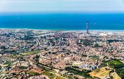 Flyg- sikt av Algiers, huvudstaden av Algeriet royaltyfri bild