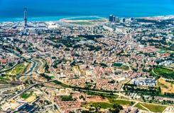 Flyg- sikt av Algiers, huvudstaden av Algeriet arkivbilder