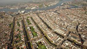 Flyg- sikt av Amsterdam arkivfilmer