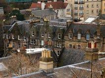 Flyg- sikt av arkitektur i Edinburg, Skottland Royaltyfria Foton