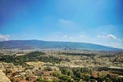 Flyg- sikt av Aten Arkivbilder