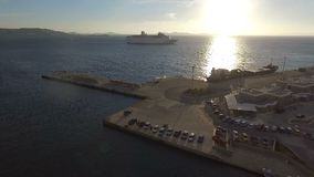 Flyg- sikt av Aten i Grekland lager videofilmer