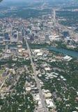 Flyg- sikt av Austin, Texas Royaltyfria Bilder