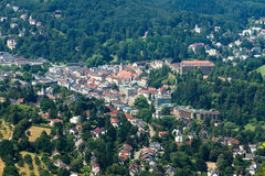 Flyg- sikt av Baden-Baden, Tyskland Arkivbilder