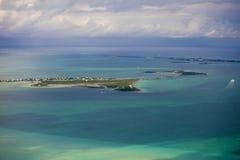 Flyg- sikt av Bahamas Arkivbild