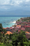 Flyg- sikt av Bali royaltyfri bild