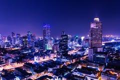 Flyg- sikt av bangkok arkivbilder