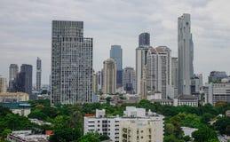 Flyg- sikt av Bangkok, Thailand Arkivfoton