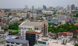 Flyg- sikt av Bangkok, Thailand Fotografering för Bildbyråer