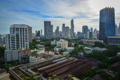 Flyg- sikt av Bangkok, Thailand Royaltyfria Foton